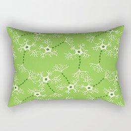 Green Neurons Rectangular Pillow
