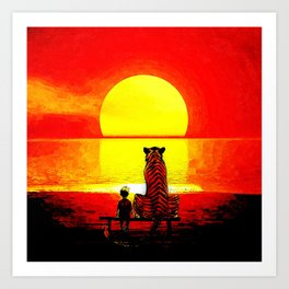 Stay Watch Sunset Art Print