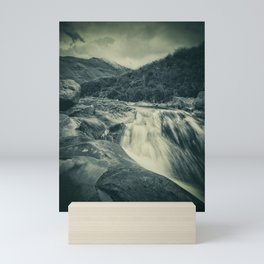 The River in the Mountains Mini Art Print