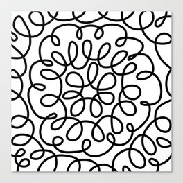Hand drawn flower doodle circles Canvas Print