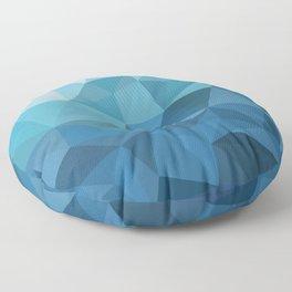 blue geometric Floor Pillow