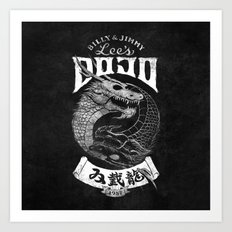 Double Dragon Dojo Art Print