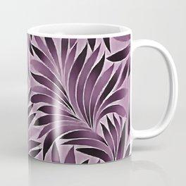 Beautiful Leaves in Aubergine Purple Coffee Mug
