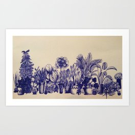 Plants in Pen Art Print
