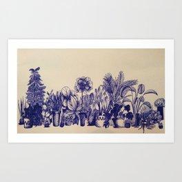 Plants in Pen Art Print