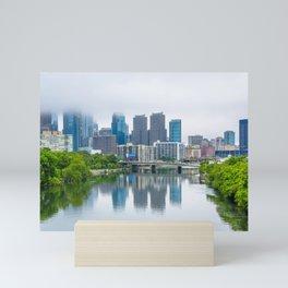 Fog over Philadelphia's Skyline Mini Art Print