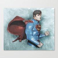 superman Canvas Prints featuring Superman by Alex Heuchert