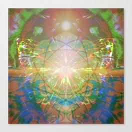 Atomic Flower Canvas Print