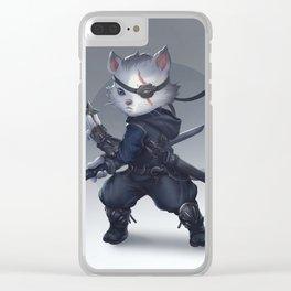 Ninja cat Clear iPhone Case
