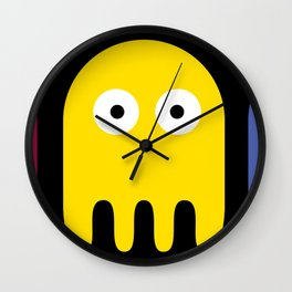 Pacman Enemy Wall Clock