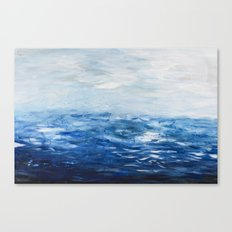 Paint 10 abstract water ocean seascape modern painting dorm room decor affordable stretched canvas Canvas Print