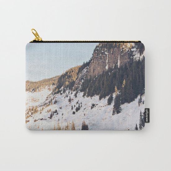 Mountain Snow in the Sun Carry-All Pouch