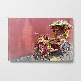 Malacca Festive Trishaw  Metal Print