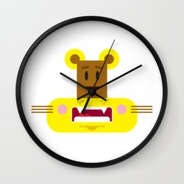 Cute Cartoon Lioness Wall Clock