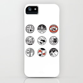 blurry icons iPhone Case