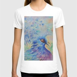 Blue Bird Fancy colorful bird Wildlife illustration Impressionistic painting of nature T-shirt