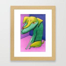 Feeling Cornered Framed Art Print