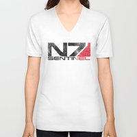 n7 V-neck T-shirts featuring Alt Sentinel by Draygin82