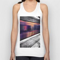 subway Tank Tops featuring Subway by Yancey Wells