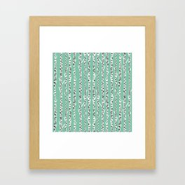 Birch Tree northwest minimal forest woodland nature pattern by andrea lauren Framed Art Print