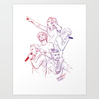 cyrilliart Art Prints featuring OTRA by Cyrilliart