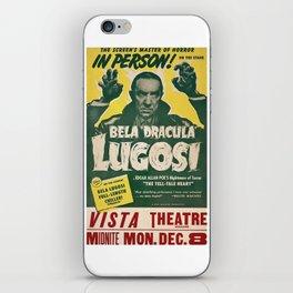 Dracula, Bela Lugosi, vintage poster iPhone Skin