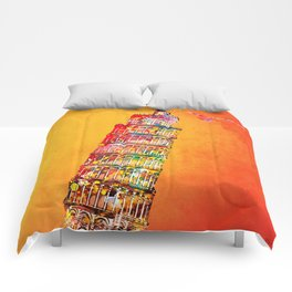 leaning tower Comforters