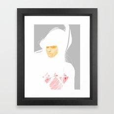 Untitled digital drawing 03 Framed Art Print