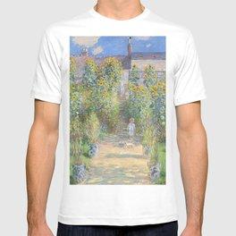 The Artists Garden at Vetheuil (1881) by Claude Monet T-shirt