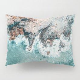 Ocean Print, Ocean Art, Printable Art, Waves Print, Ocean Rocks, Aerial Photography, Coastal Ocean Printable Wall Art Pillow Sham