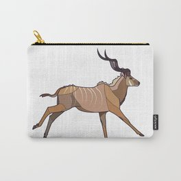 Geometric Antelope Carry-All Pouch