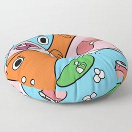 Gumball contemporain Floor Pillow
