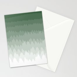 Green Ombré Forest Stationery Cards
