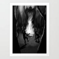 cthulhu Art Prints featuring Cthulhu by Guilherme Garcia