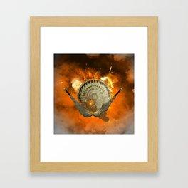 Shield with sword  Framed Art Print