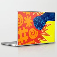 superheroes Laptop & iPad Skins featuring Superheroes SF by Nick Volkert