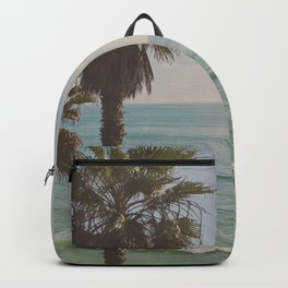 palm tree and ocean. California Vacation Backpack