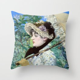 Jeanne (Spring) Throw Pillow