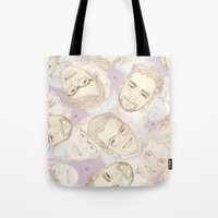 boys Tote Bags featuring boys by laikawa