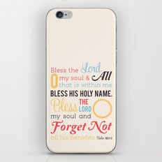 Forget Not iPhone & iPod Skin