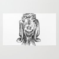goat Area & Throw Rugs featuring Goat by Sarah Mosser
