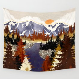 Autumn River Wall Tapestry