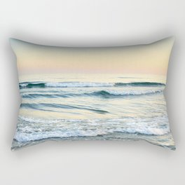 Serenity sea. Vintage. Square format Rectangular Pillow