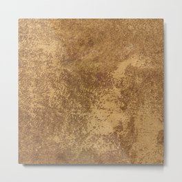 Abstract gold paper Metal Print