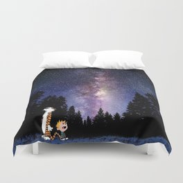 calvin and hobbes dreams Duvet Cover