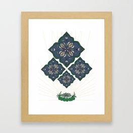 Lively Earth Mandala - v.1 Framed Art Print