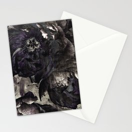 goth peony Stationery Cards