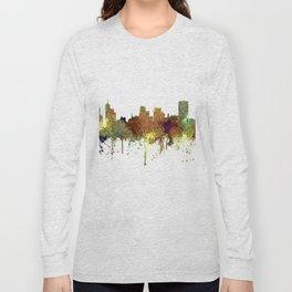 Memphis, Tennessee Skyline - Safari Buff Long Sleeve T-shirt