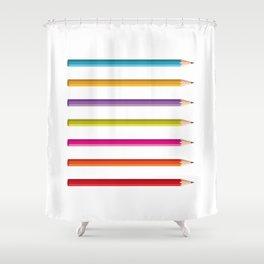 Pencils Shower Curtain