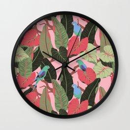 Sunny Hawaii Tropical Exotic Birds of Paradise Wall Clock